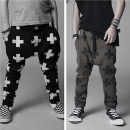 $enCountryForm.capitalKeyWord Australia - Hooyi Cross Boys Harem Pants Children Casual Trousers For Boy Clothes Kids Sport Pant Grey Green Black 100% Cotton 2 3 4 5 6 7Y