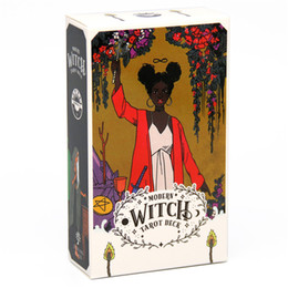 IN STOCK Tarot Cards The Modern Witch Tarot Deck Card 78PCS Full English With PFD Guidebook Indoor Family Kids Game Card Set on Sale