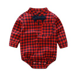 07edf09d24a5 Baby Boy Plaid Overalls Australia - baby romper 1 piece for boys girls baby  clothes full