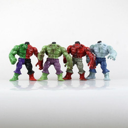 $enCountryForm.capitalKeyWord UK - 4Pcs Set 12CM The Avengers Hulk with Disassembled Compound Red Grey Green PVC Action Figure Model Toys A012