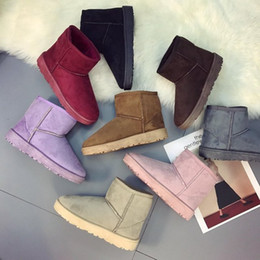 purple martin boots NZ - 2018 Autumn winter New Women Ankle Boots Knitting wool Flat bottom Martin boots Fashion casual shoes Cotton-padded shoes Adding cotton DDS24