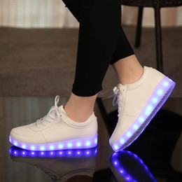Shining Patent Leather Shoes NZ - 2019 New led Footwear children's luminous sneakers with kids boys light up shining glowing shoes for girls slippers lights 2544