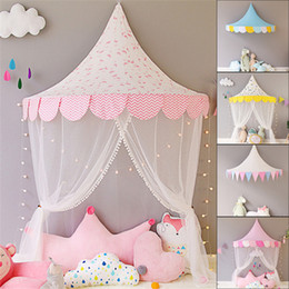 $enCountryForm.capitalKeyWord Australia - White Lace Girls Princess Dome Canopy Curtains Round Kids Play Teepee Tipi Tent Room Decoration Baby Bed Hanging Crib Netting