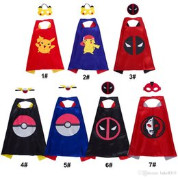 movie quality cosplay costumes Australia - 7 Style Cartoon Kids Superhero Capes with Mask Double Sides Top quality Superhero Costumes for Birthday Party Christmas Halloween Cosplay