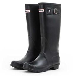 $enCountryForm.capitalKeyWord Australia - Hot sale-Women's RAINBOOTS fashion high help high boots rain boots British style waterproof power boots water shoes multicolor