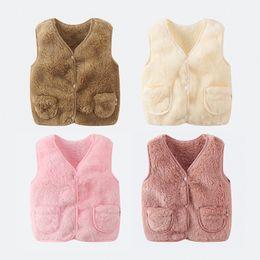 $enCountryForm.capitalKeyWord Australia - Winter Children Vest Fur Waistcoat Thick Warm Kid Jacket sleeveless Baby Girl Boy Toddler Children Clothing Casual