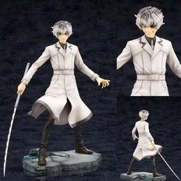 action figure stands NZ - 22CM Japanese anime Tokyo Ghoul Kaneki Ken PVC action figure Toys anime Standing Kaneki Ken Collectible model Toys kid gift