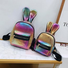 Discount small girls backpack - Rabbit Ears Cartoon Women Backpack with Sequins Mini Backpack Female Small Backpacks for Girls Teenagers bag MMA1356
