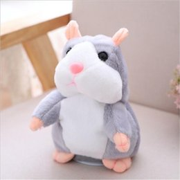 electronic records Canada - 15cm Lovely Talking Hamster Speak Talk Sound Record Repeat Stuffed Plush Animal cute Hamster Toys For kids Children Gifts New