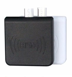 Nfc tags aNdroid online shopping - 50Sets Portable MHz Micro USB Android RFID NFC Card Reader Only Read ISO14443A Chip Reader Support all MHz RFID IC Card Tag DHL