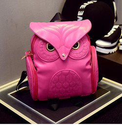 $enCountryForm.capitalKeyWord Australia - Retail Fashion Owl Backpack PU Leather Women Backpacks Travel Bags Girl Cartoon Shoulder School Bag Backpack Preppy Promotion 4 Colors