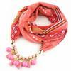 $enCountryForm.capitalKeyWord Australia - 2019 Fashion design style chiffon scarf jewelry necklace resin Aleck beads pendant scarf women's headscarf free shipping