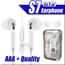 Auriculares para S7 S6 edge Galaxy Headphone Alta calidad en auriculares con micrófono y control de volumen para i5 6S Moblie Phone en venta
