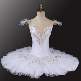 $enCountryForm.capitalKeyWord Australia - Women Professional Ballet Tutu White Swan Classical Pancake Platter Tutu Girl Nutcracker Ballet Stage Costume Competition Dance White Silver