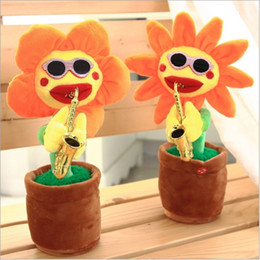 $enCountryForm.capitalKeyWord NZ - Electric Sunflowers Toy Bluetooth Connection Musical Enchanting simulation Flower Dancing Singing Plush Toys bluetooth play new GGA2621
