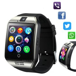 Camera Sms Australia - Q18 Bluetooth Smart Watch With Camera Facebook Whatsapp Twitter Sync SMS Smartwatch Support SIM TF Connection