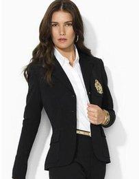 Long Sleeve Polo Fashion Australia - Cheap Fashion Women Solid Polo Jackets High Quality Cotton Long Sleeve Casual Jacket Blazer Winter Girl Leisure Coats Black