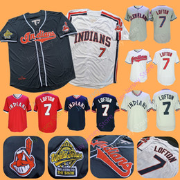 ec06483e9 Kenny Lofton Jersey 1995 WS World Series Cleveland Baseball Indians Jerseys  Home Away White Blue Red Cream Pullover