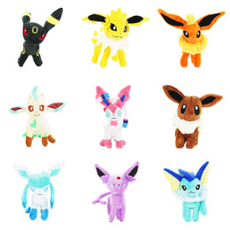Chinese  Home> Toys & Gifts> Stuffed Animals & Plush Toys> Stuffed & Plush Animals> Product detail 9Styles 22CM Stand Eevee Sylveon Espeon Flareon manufacturers