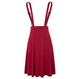 4b5169af6 Shoulder Strap Skirts Womens Pinafore High Waist Solid Color Mini School Pleated  Skirt Summer Korean Suspender Skirt Black red Y19043002