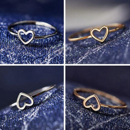 $enCountryForm.capitalKeyWord Australia - 6-10 New Cute Little Heart-shaped Love Small Rings Popular Party Rings Best Gift For Girls