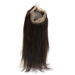 Discount full lace front closure virgin hair - Top Quality Peruvian 360 Lace Frontal Closure 10A Best Virgin Human Hair Products Body Wave Shedding Free Straight Full