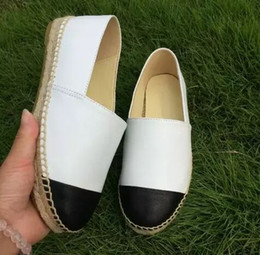 minimalist shoes 2019 - trend luxury minimalist Womens Genuine Leather Espadrilles Brand Designer Fashion Flats Loafers Shoes Womans high qualit