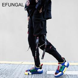 $enCountryForm.capitalKeyWord NZ - EFUNGAL Ribbons Cargo Harem Pants Men Track Casual Sweatpants Hip Hop Joggers 2018 New Design Slim Fit Harajuku Streetwear FD61
