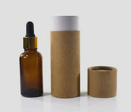 $enCountryForm.capitalKeyWord NZ - 100ml glass dropper bottle packaging box amber cardboard kraft paper tube cylinder round boxes Printing service custom printed