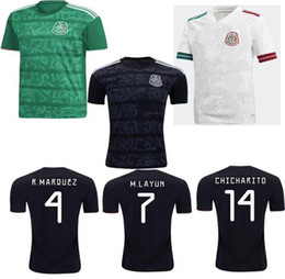 team soccer uniforms kit NZ - 20 21 Mexico Soccer jerseys away H.LOZANO DOS SANTOS CHICHARITO 2020 2021 national team man kit sports football uniform shirts