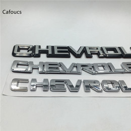 chevrolet trunk Canada - For Chevrolet Lacetti Captiva Aveo Cruze Spark Emblem Badge Nameplate Rear Boot Trunk Logo Sticker