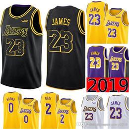d1997b2f2fcc City Black 23 LeBron James Los Angeles James Laker Jersey Mens Swingman  Jersey - Icon Edition Embroidery Basketball Jerseys S-XXL