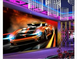 $enCountryForm.capitalKeyWord Australia - customized 3d photo wallpaper murals wall paper Dynamic fashion sports car 3D hotel KTV background wall paper for walls 3d