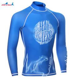 slimming swimming suits 2019 - Men Rash Guard Beach Sun Protection Diving Surfing Suit Male Long Sleeve Slim-fit Swim T Shirt Leggings Men UPF 50 Swimw
