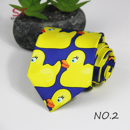 Business Tvs Wholesale Australia - Professional Handmade Necktie Yellow Rubber Duck From Hot TV Show How I Met Your Mother 1PC 8CM Width Customizable Ducky Tie D19011004