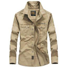 $enCountryForm.capitalKeyWord Australia - Men shirt long sleeve camisa social military 100% cotton shirts brand spring autumn army turn down collar 4xl shirts clothing
