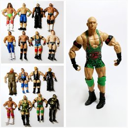 movable joints action figure NZ - Wholesale 10Pcs lot Occupation Wrestling Gladiators Movable Multi Joint Model Dolls Wrestler Action Figure toys Free Shipping