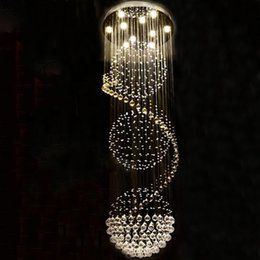 long spiral modern chandelier Australia - Modern Long LED Spiral Living Crystal Chandeliers Lighting Indoor Fixture for Staircase Stair Lamp Showcase Bedroom Hotel Hall