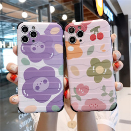 Discount case smiley face INS Korea cute flower cherry smiley face taste bear phone case for iPhone 11 pro MAX Xs MAX Xr X 7 8 plus soft TPU back cover