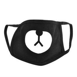 Black cotton face mask online shopping - Teeth Pattern Cute Unisex Cotton Blend Anti Dust Face Mouth Mask Black