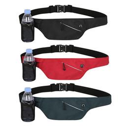 $enCountryForm.capitalKeyWord NZ - Unisex Waterproof Waist Packs Pocket Belt With Water Bottle Bag Running Marathon Yoga Hiking Cycling Travelling Waist Pack Pouch