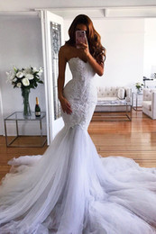 $enCountryForm.capitalKeyWord Australia - Country Wedding Dresses Outfits Mermaid Fishtail Wedding Gowns With Appliques France Lace Vintage Boho Beach Wedding Dress Zipper Back 2019