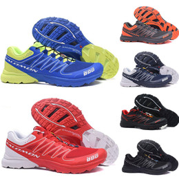 S lab online shopping - New Arrive Men Speed cross S Lab Running Shoes mes Triple Black Silver red navy blue Outdoor SpeedCross S lab Hiking mens sport sneaker Shoe