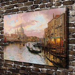 venice canvas art abstract NZ - Thomas Kinkade Venice Scenery,Canvas Prints Wall Art Oil Painting Home Decor(Unframed Framed)