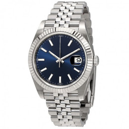 Self wind watcheS online shopping - 12 colors Oyster Perpetual Datejust Blue Dial Men s Jubilee Watch mm size glide smooth second hand automatic self winding unisex watches