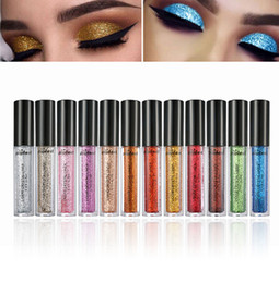 Wholesale Glitter Lips Australia - Liquid Diamond Eyeshadow Pearly Metallic Shinning Cream 12 Color Glitter Eye Makeup Lips Eyeliner Pigment Festival