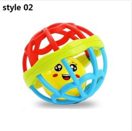 Wholesale Plastic Baby Rattles Australia - Teether Rattle Toy Develop Baby Intelligence Plastic ball Funny Educational Mobiles Toys Xmas Birthday Gift