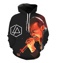 cool mens sweatshirts UK - New Fashion Cool Sweatshirt Hoodies 3D Print Mens Womens Casual Linkin Park Chester Bennington Hot Style Streetwear Clothes XLM04
