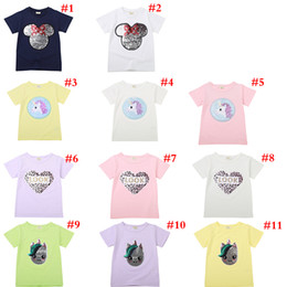 $enCountryForm.capitalKeyWord Australia - Summer newborn baby girl and boy clothes Heart Pattern T-Shirts Reversible Sequins Letter Kids Fashion Funny Tees Baby Cotton TopsAA19134