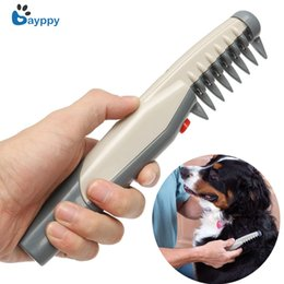 removing dog hair NZ - High Quality Electric Pet Dog Grooming Comb Cat Hair Trimmer Knot Out Remove Mats Tangles Tool Supplies Pet Dogs Cats Scissors J190717